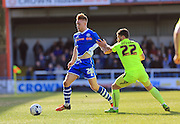 Callum Camps, Gary Deegan during the Sky Bet League 1 match between Rochdale and Southend United at Spotland, Rochdale, England on 25 March 2016. Photo by Daniel Youngs.