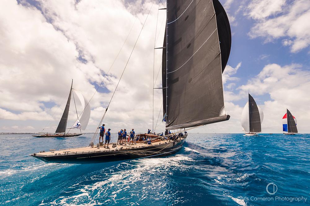 Bermuda, 19th June 2017, America's Cup J Class Regatta. Hanuman JK6.