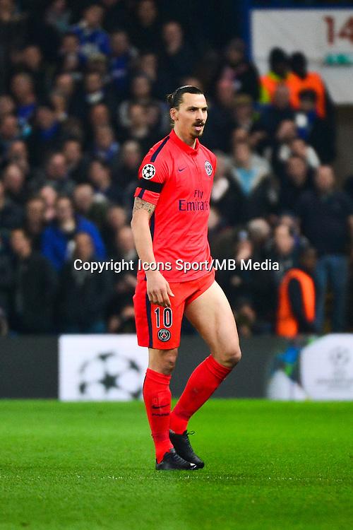 Expulsion Zlatan IBRAHIMOVIC - 11.03.2015 - Chelsea / Paris Saint Germain - 1/8Finale retour Champions League<br /> Photo : Dave Winter / Icon Sport