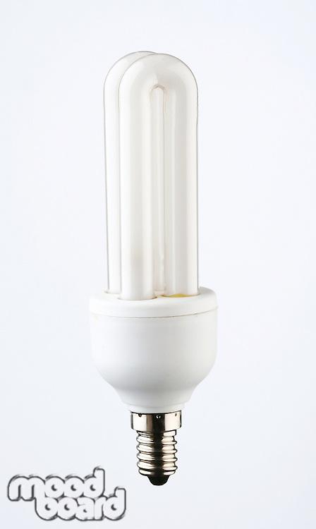 Energy saver light bulb on white background