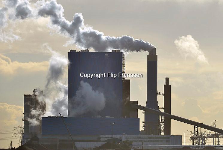 Nederland, Rotterdam, 20-9-2015Maasvlakte. De elektriciteitscentrale van GDF-Suez, gdf, suez, gdfsuez. Kolencentrale, co2 uitstoot, kolen, kolengestookte, the new land.Foto: Flip Franssen
