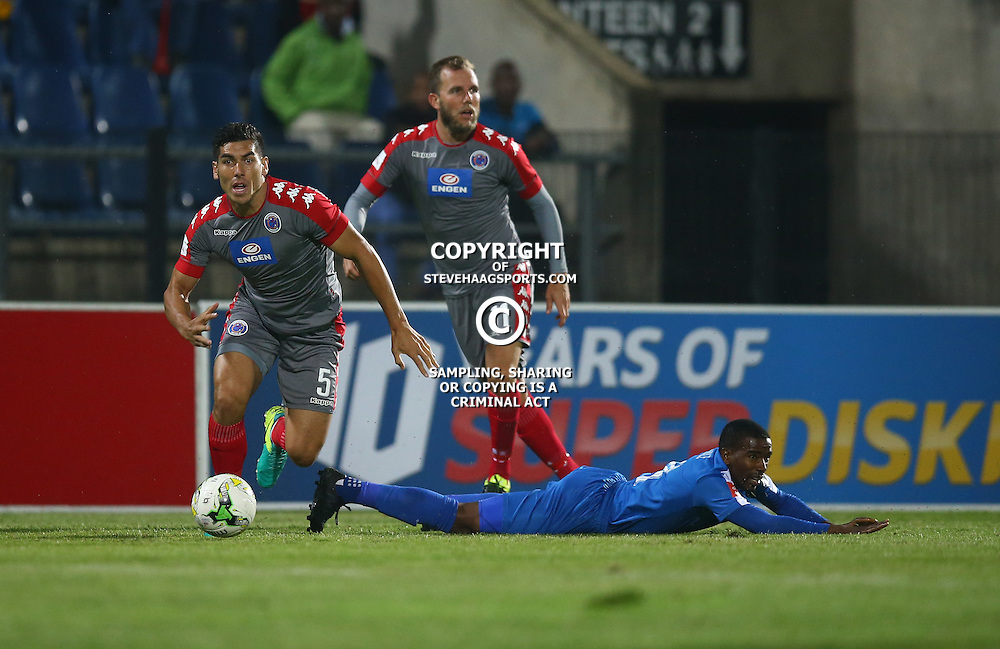 Michael Boxall of SuperSport United during the 2016 Premier Soccer League match between Maritzburg Utd and SuperSport United held at the Harry Gwala Stadium in Pietermaritzburg, South Africa on the 21st September 2016<br /> <br /> Photo by:   Steve Haag / Real Time Images