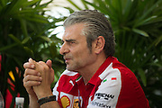 March 27-29, 2015: Malaysian Grand Prix - Maurizio Arrivabene, team principal of Scuderia Ferrari