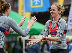 20150621 NED: Wildcard WK Beachvolleybal, Amstelveen<br /> In Amstelveen werd er voor de laatste ticket voor het WK gestreden / Danielle Remmers en Michelle Stiekema mogen volgende week namens Nederland deelnemen aan het WK beachvolleybal. Na de eerste speeldag van het eredivisietoernooi in Amstelveen zijn de vrouwen niet meer in te halen in de race om de wildcard.