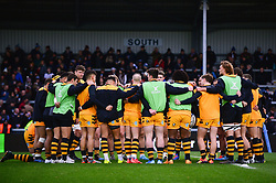 Wasps huddle - Mandatory by-line: Dougie Allward/JMP - 30/11/2019 - RUGBY - Sandy Park - Exeter, England - Exeter Chiefs v Wasps - Gallagher Premiership Rugby