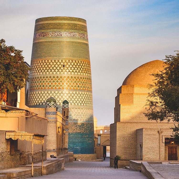 The quiet streets of museum city Khiva