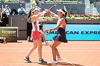 Swiss Martina Hingis and Taiwanese Chan Yung-jan during Mutua Madrid Open Sub16 Tennis 2017 at Caja Magica in Madrid, May 13, 2017. Spain.<br /> (ALTERPHOTOS/BorjaB.Hojas)