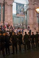 Roma, 12-13 Ottobre 2011.Indignati presidiano e si accampano in via Nazionale nei pressi di palazzo Koch sede di Bankitalia. Dopo la mezzanotte vengono sgomberati dalle forze dell'ordine resistendo in modo passivo