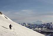 Cross Country Skiing, telemark skiing, Mount McKinley, Mt. McKinley, Winter, snow, Denali National Park, Alaska