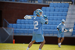 CHAPEL HILL, NC - MARCH 02: Andy Matthews #12 of the North Carolina Tar Heels during a game against the Denver Pioneers on March 02, 2019 at the UNC Lacrosse and Soccer Stadium in Chapel Hill, North Carolina. Denver won 12-10. (Photo by Peyton Williams/US Lacrosse)