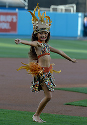June 20, 2017 - Los Angeles, California, U.S. - The Glory of Paradise Dance Group and Drummers prior to a Major League baseball game between the New York Mets and the Los Angeles Dodgers at Dodger Stadium on Tuesday, June 20, 2017 in Los Angeles. (Photo by Keith Birmingham, Pasadena Star-News/SCNG) (Credit Image: © San Gabriel Valley Tribune via ZUMA Wire)