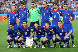 Team Croatia before the UEFA EURO 2008 Quarter-Final soccer match between Croatia and Turkey at Ernst-Happel Stadium, on June 20,2008, in Wien, Austria.  Won of Turkey after penalty shots. (Photo by Vid Ponikvar / Sportal Images)