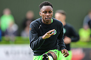 Forest Green Rovers Shawn McCoulsky(21) warming up during the EFL Sky Bet League 2 match between Forest Green Rovers and Exeter City at the New Lawn, Forest Green, United Kingdom on 4 May 2019.