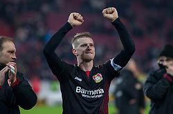 December 8, 2017 - Stuttgart, Germany - Leverkusens Lars Bender celebrates after the final whistle the Bundesliga match between VfB Stuttgart and Bayer 04 Leverkusen at Mercedes-Benz Arena on December 8, 2017 in Stuttgart, Germany. (Credit Image: © Bartek Langer/NurPhoto via ZUMA Press)