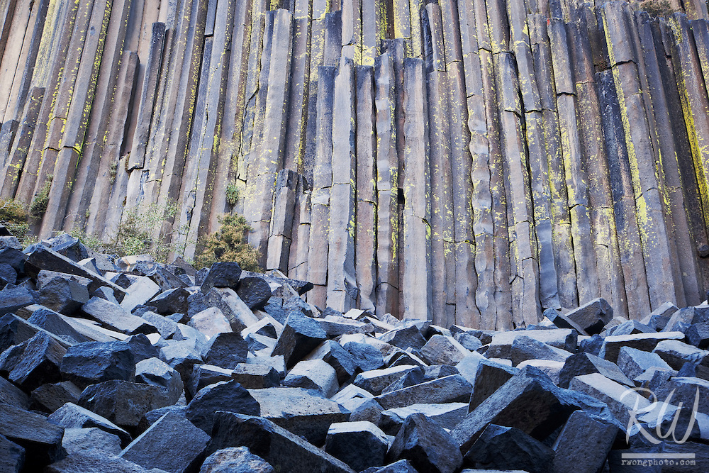 Columnar Basalt at Devils Postpile National Monument, California