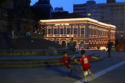 Decoração de Natal do Theatro São Pedro. Foto: Marcos Nagelstein