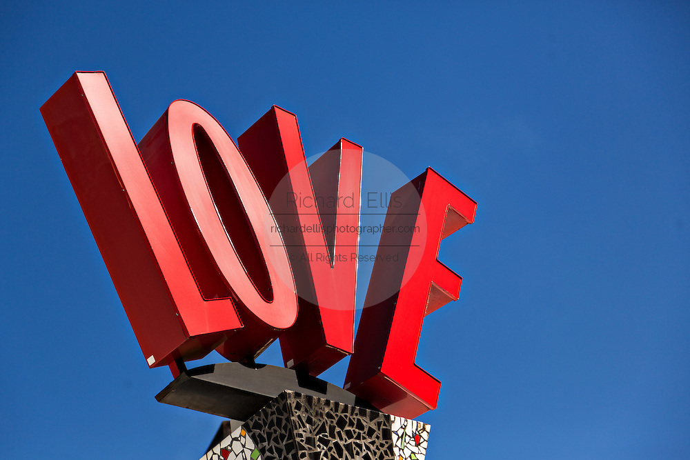 Love sign at Main Street Disney World in Lake Buena Vista, Florida.