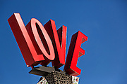 Love sign at Main Street Disney World in Lake Buena Vista, Florida.
