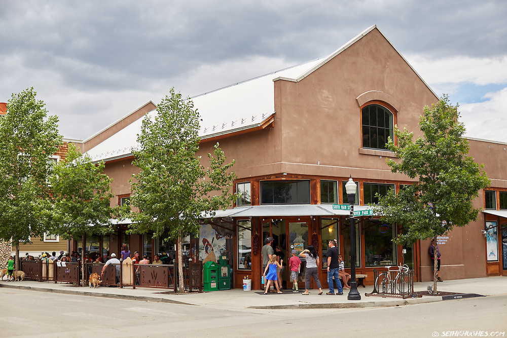 The Eddyline Restaurant in the South Main development of Buena Vista, Colorado.