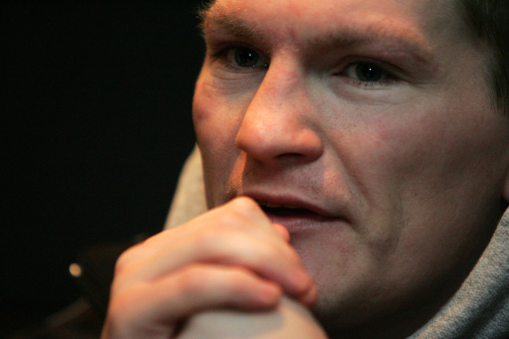 Ricky Hatton press conference at the Casino, Leicester Square. 28th March 2008.