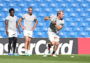 Jannie Du Plessis during the South Africa Captain's Run training session in preparation for the Rugby World Cup at the American Express Community Stadium, Brighton and Hove, England on 18 September 2015.