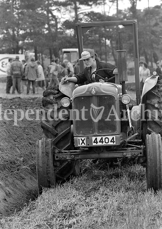 The National Ploughing Championship in Carlow, 11/10/1989 (Part of the Independent Newspapers Ireland/NLI Collection).