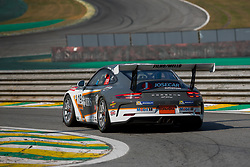 July 27, 2018 - Sao Paulo, Sao Paulo, Brazil - Car #19 in action during the free practice session for the 5th stage of the 2018 Brazilian Porsche GT3 Cup championship, which takes place on Saturday, 28 at Interlagos circuit in Sao Paulo, Brazil. (Credit Image: © Paulo Lopes via ZUMA Wire)