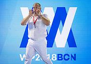 Referees Matan SCHWARTZ (ISR)<br /> ESP - FRA Spain (white caps) vs. France (blue caps) <br /> Barcelona 18/07/18 Piscines Bernat Picornell <br /> Men qualification<br /> 33rd LEN European Water Polo Championships - Barcelona 2018 <br /> Photo Giorgio Scala/Deepbluemedia/Insidefoto