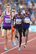 Paul Chelimo (USA) defeats Stewart McSweyn (AUS) to win the 3,000m in 7:57.13 during the IAAF Continental Cup 2018 at Mestky Stadion in Ostrava, Czech Republic, Sunday, Sept. 9, 2018. (Jiro Mochizuki/Image of Sport)