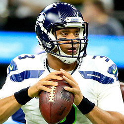 Oct 30, 2016; New Orleans, LA, USA; Seattle Seahawks quarterback Russell Wilson (3) before a game against the New Orleans Saints at the Mercedes-Benz Superdome. Mandatory Credit: Derick E. Hingle-USA TODAY Sports
