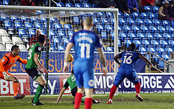 Junior Morias of Peterborough United scores his sides second goal of the game against Scunthorpe United - Mandatory by-line: Joe Dent/JMP - 13/02/2018 - FOOTBALL - ABAX Stadium - Peterborough, England - Peterborough United v Scunthorpe United - Sky Bet League One