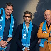 NLD/Amsterdam/20190804 -  Première Diego Maradona inloop, Sjoerd Mossou, Asif Kapadia en Wilfred de Jong