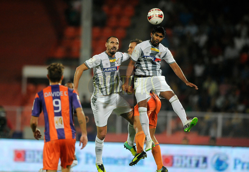 Mohammed Rafi Madambillath of Atletico de Kolkata in action during match 44 of the Hero Indian Super League between FC Pune City and Atletico de Kolkata FC held at the Shree Shiv Chhatrapati Sports Complex Stadium, Pune, India on the 29th November 2014.<br /> <br /> Photo by:  Pal Pillai/ ISL/ SPORTZPICS