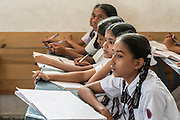Students of St.John's School in Bangalore participating in a live class broadcasted from the studios of Edutel. For AP Images for an International Foundation