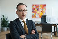 29 APR 2014, BERLIN/GERMANY:<br /> Heiko Maas, SPD, Bundesminister fuer Justiz und Verbraucherschutz, waehrend einem Interview, in seinem Buero, Bundesministerium fuer Justiz und Verbraucherschutz<br /> IMAGE: 20140429-01-005<br /> KEYWORDS: Büro, Bundesjustizminister