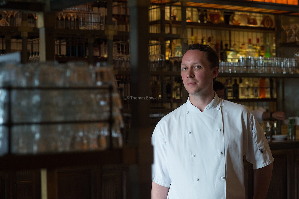 Head Chef Calum Franklin at the Holborn Dining Rooms