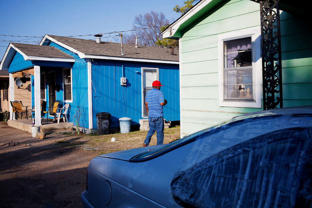 in the Baptist Town neighborhood of Greenwood, Mississippi on February 19, 2011.