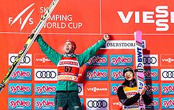 02.02.2019, Heini Klopfer Skiflugschanze, Oberstdorf, GER, FIS Weltcup Skiflug, Oberstdorf, Siegerehrung, im Bild 2. Platz Markus Eisenbichler (GER), Sieger Ryoyu Kobayashi (JPN) // 2nd placed Markus Eisenbichler of Germany Winner Ryoyu Kobayashi of Japan during the winner Ceremony of FIS Ski Jumping World Cup at the Heini Klopfer Skiflugschanze in Oberstdorf, Germany on 2019/02/02. EXPA Pictures © 2019, PhotoCredit: EXPA/ JFK