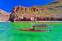 Sea kayaking, Ensenada Grande Bay, Isla Espiritu Santo, Sea of Cortes, Baja California Sur, Mexico