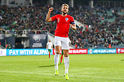 **Caption Correction**Goal England forward Harry Kane scores a goal and celebrates 0-6 during the UEFA European 2020 Qualifier match between Bulgaria and England at Stadion Vasil Levski, Sofia, Bulgaria on 14 October 2019.