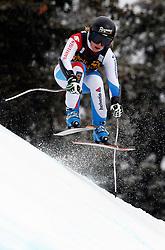27.02.2014, MontLachaux, Crans Montana, SUI, FIS Weltcup Ski Alpin, Abfahrt, Damen, 1. Trainingslauf, im Bild Lara Gut (SUI) // during the 1st practice run of the ladies downhill of the Crans Montana FIS Ski Alpine World Cup at the MontLachaux course in Crans Montana, Switzerland on 2014/02/27. EXPA Pictures © 2014, PhotoCredit: EXPA/ Freshfocus/ Gerard Berthoud<br /> <br /> *****ATTENTION - for AUT, SLO, CRO, SRB, BIH, MAZ only*****