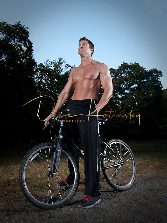 Fitness model on Mountain Bike