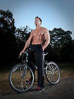 Fitness model on Mountain Bike