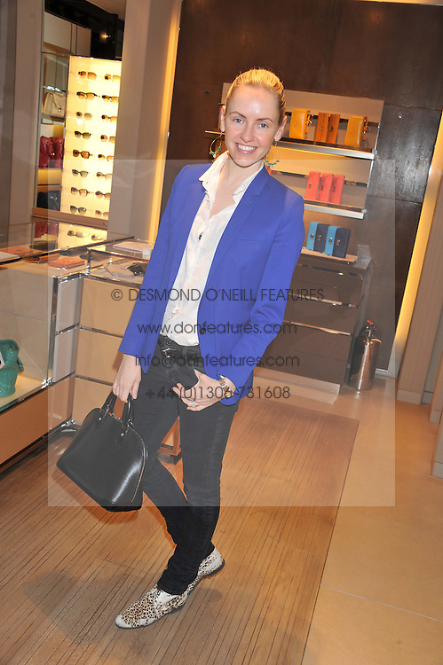 NADJA ABELA at a champagne breakfast hosted by Carolina Gonzalez-Bunster and TOD's in aid of the Walkabout Foundation held at TOD's, 2-5 Old Bond Street, London on 9th May 2013.