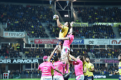 October 28, 2017 - Clermont-Ferrand - Stade Marcel, France - Alexandre Lapandry (asm) vs Willem Alberts  (Credit Image: © Panoramic via ZUMA Press)
