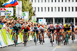 Sondre Holst Enger of Israel Cycling Academy and cyclists battles at the finish line during 1st Stage of 25th Tour de Slovenie 2018 cycling race between Lendava and Murska Sobota (159 km), on June 13, 2018 in  Slovenia. Photo by Matic Klansek Velej / Sportida