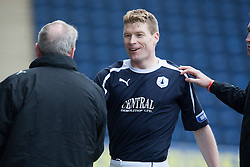 Falkirk's Darren Dods subbed after his goal..Falkirk 4 v 0 Cowdenbeath, 6/4/2013..©Michael Schofield..