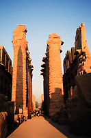 view of the Karnak temple in luxor upper egypt