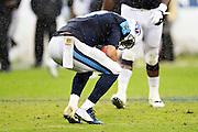 NASHVILLE, TN - NOVEMBER 29:  Marcus Mariota #8 of the Tennessee Titans reacts after throwing a interception at the end of the game against the Oakland Raiders at Nissan Stadium on November 29, 2015 in Nashville, Tennessee.  (Photo by Wesley Hitt/Getty Images) *** Local Caption *** Marcus Mariota