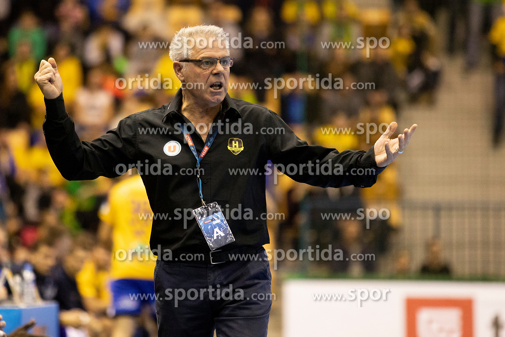 Thierry Anti, head coach of HBC Nantes during handball match between RK Celje Pivovarna Lasko (SLO) and HBC Nantes (FRA) in Group phase of VELUX EHF Men's Champions League 2018/19, December 2, 2018 in Arena Zlatorog, Celje, Slovenia. Photo by Urban Urbanc / Sportida